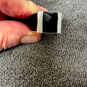 Men's/Unisex EFFY Sapphire Signet Ring size 9.75